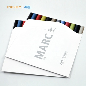8P die cut custom size catalog with art paper printing shanghai