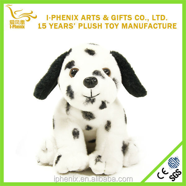 Mild Nature To Skin Material Mini Lovely Spotty Dog Stuffed Plush Soft Toy