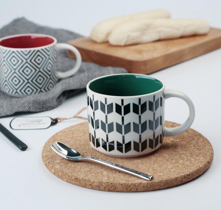 Bulk Cheap Ceramic Coffee Mugs Customized Logo Porcelain