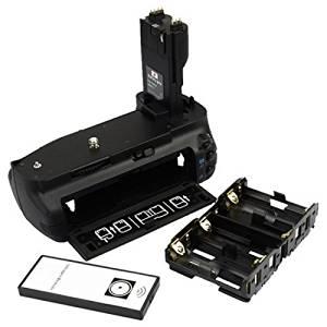 DSTE® Pro IR Remote BG-E7 Vertical Battery Grip for Canon EOS 7D SLR Digital Camera as LP-E6 LP-E6N