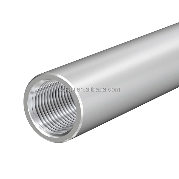 Stainless steel tube internal threaded and metal threaded tube end caps