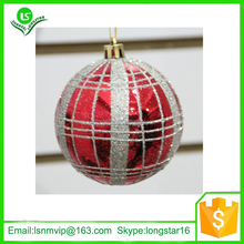 Painted silver line christmas ball ornament