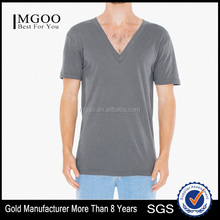Mens Popular Classic V-neck T-shirt Customize Slim Fit V-neck Tshirt from Factory China