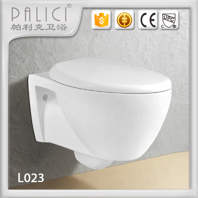 European concealed cistern water closet white color wall hung toilet