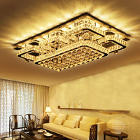 china top ten selling products Rectangle Shape Crystal Ceiling Lamps