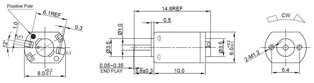 NdFeB แม่เหล็กสแตนเลสสตีล Light น้ำหนัก 1.7g 3V DC มอเตอร์สำหรับเครื่องกำจัดขน