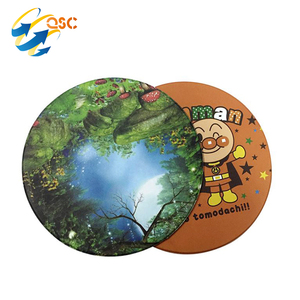 Round Shape Custom Cup Soft PVC Rubber Coasters
