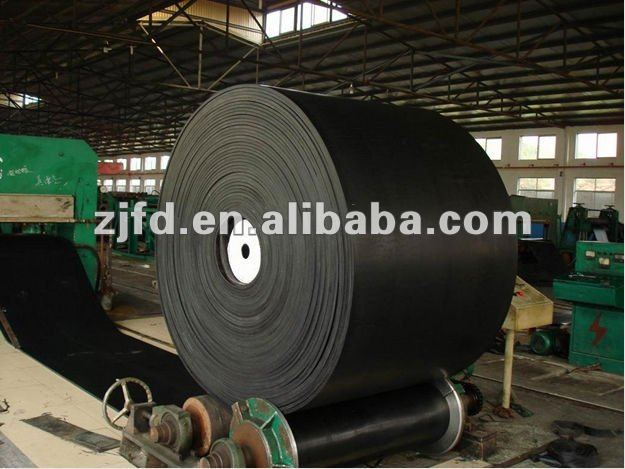 flat abrasive rubber conveyor belt