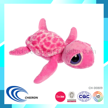 Pink dreamy eyes stuffed turtle sea animals toy