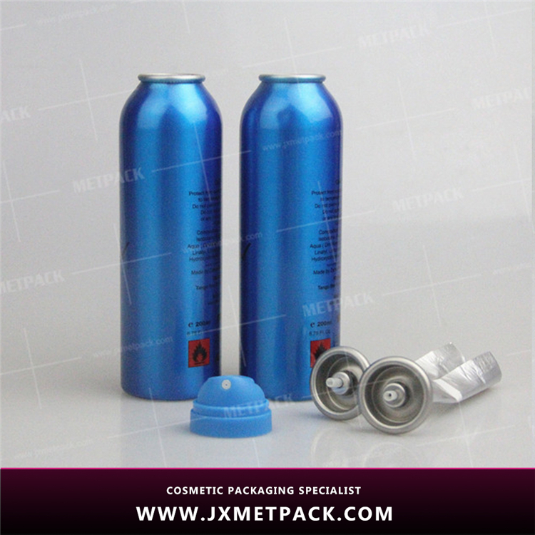 2017 refillable leakage proof empty aluminum aerosol spray can
