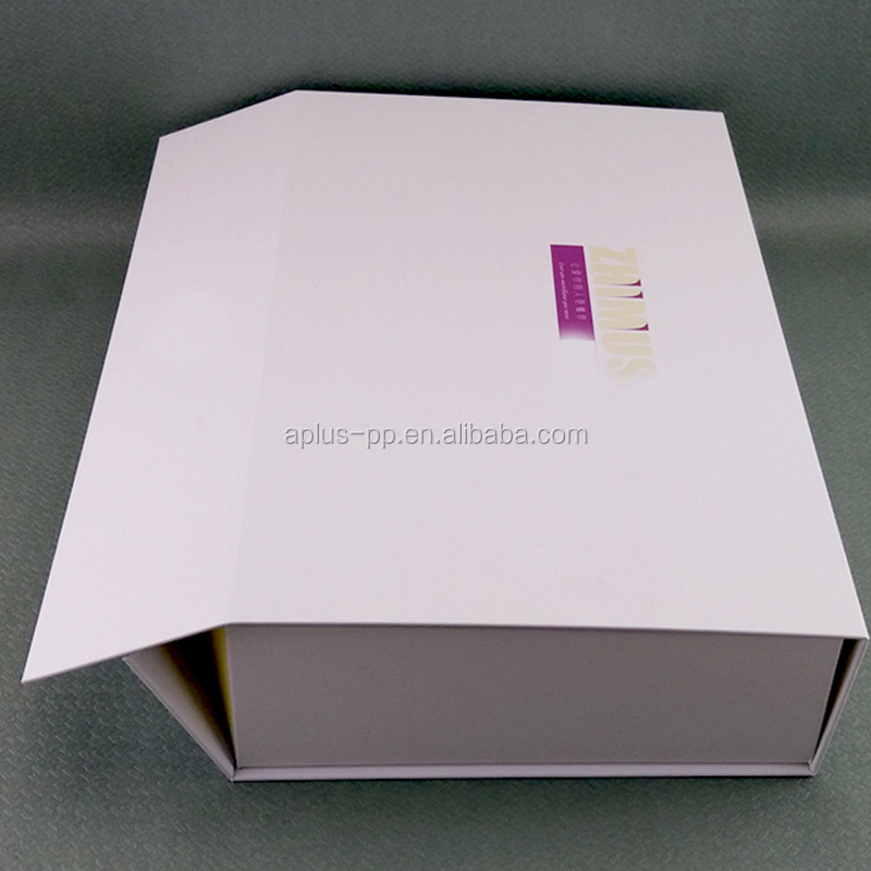 32x21x7cm Easy Shipping White Boxes Collapsible Paper Boxes with Magnet Closure