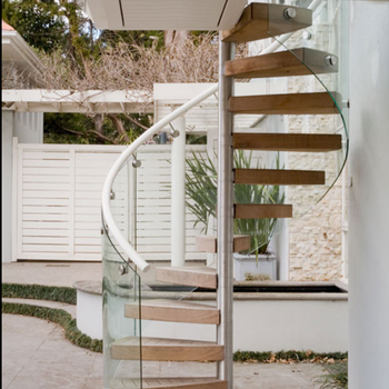 Strong Solid Wood Steps Spiral Staircase Build For Internal Small Space  House/Steel Wood Spiral