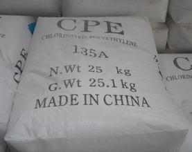 Chemical Industrial CPE white powder for plastic bag/rubber products
