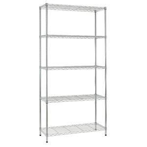 5-LAYER WIRE SHELF Chrome Commercial Heavy Duty 5 Layer/Tire Storage Rack Shelf Steel Wire Metal Shelving Rack
