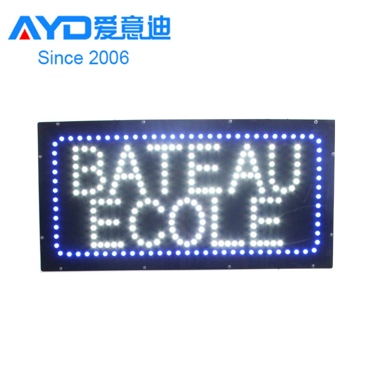 Hot Alibaba China Express Factory Beauty Ecole LED Advertising Light Boxes