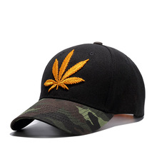 Good Shape Acrylic Camo Custom Gold Embroidery Hat Structured Baseball Cap