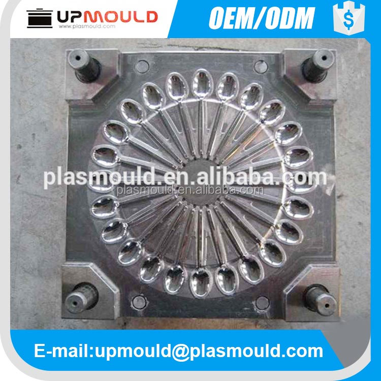 Disposable plastic spoon &fork injection mould/mold