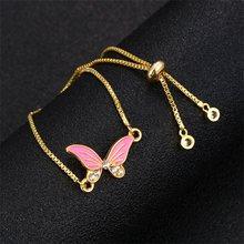 Мода животных Бабочка слон золото Lucky Free регулируемый браслет женский подарок дружбы оптовая продажа(Китай)