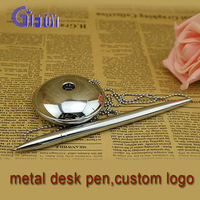 bank promotional gift desk pen with chain