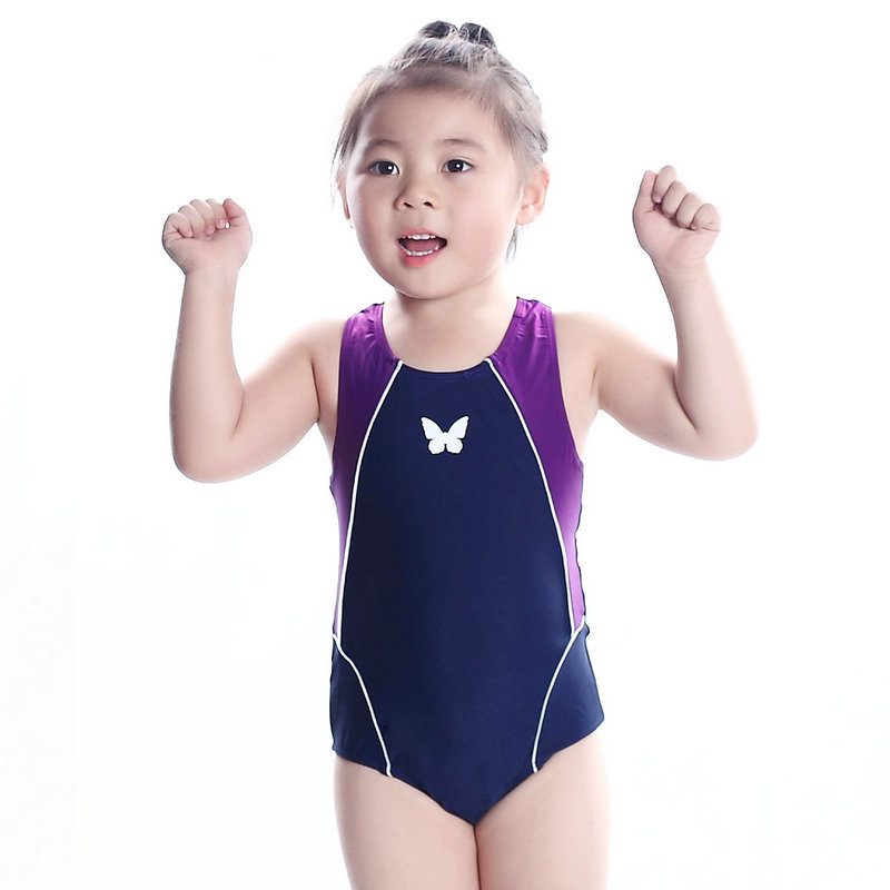 06e5181f609b8 Get Quotations · Wholesale Cute Swim Wear For Girls 2015 Summer New Navy  Blue UV Professional Sports Swimwear Child