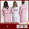 Personalised Wedding Day Waffle Bathrobe Dressing Gown, Bridesmaids bride backpack