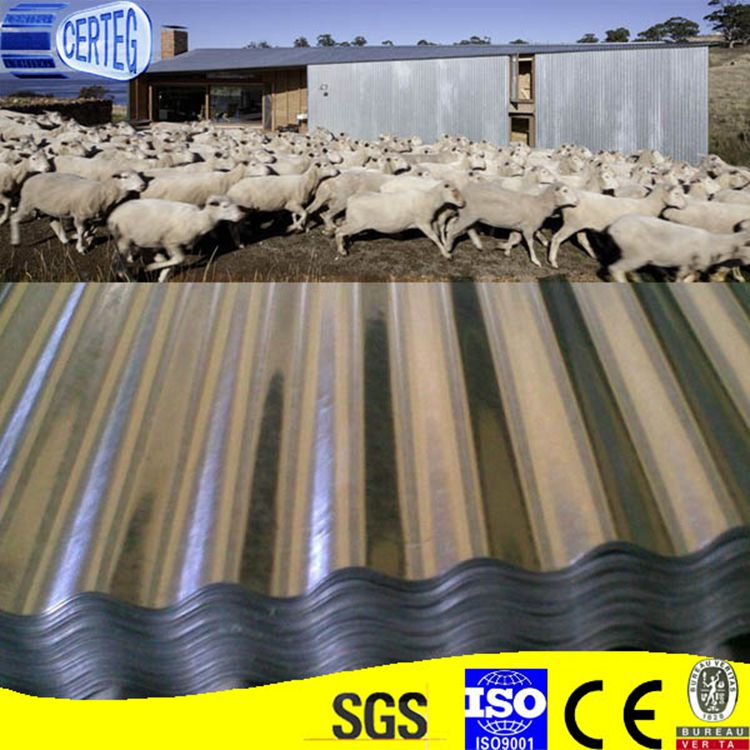 Zinc Coated Galvanized Corrugated Roofing Sheets for Workshop Roof and Wall