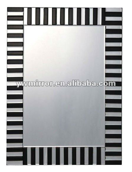 HWM10290 Zebra crossing rectangle modern wall mirror