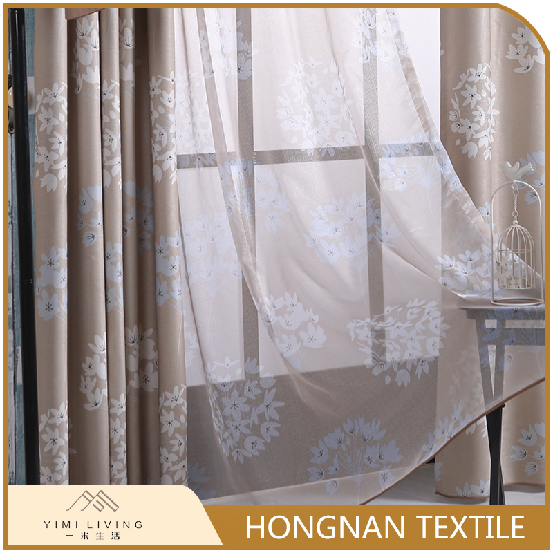 new fashionable fancy printed sheer window curtain customize