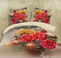 3D custom sublimation printing hotel cal king duvet cover for sale