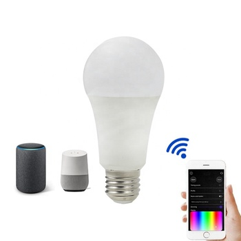 Google Assistant Amazon Alexa APP Tuya A60 E27 E26 9W Smart LED WiFi Bulb