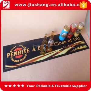 personalized pvc nitrile rubber non-woven fabric bar mats for sale