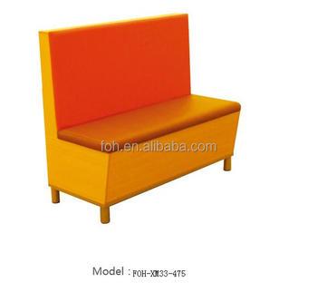 orange diner furniture restaurant bench booth seating hot