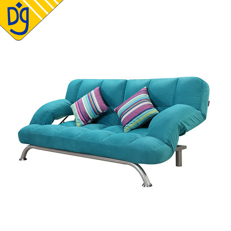 Occasional Convertible Blue Microfiber Metal Sofa Cum Bed - Buy Metal Sofa  Cum Bed,Metall Sofa Bed,Metal Frame Sofa Bed Product on Alibaba.com