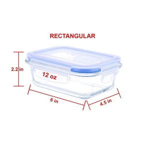Glass Works Elements 6-Piece Rectangular Food Storage Container Set includes 3 Containers and 3 Vented Lids