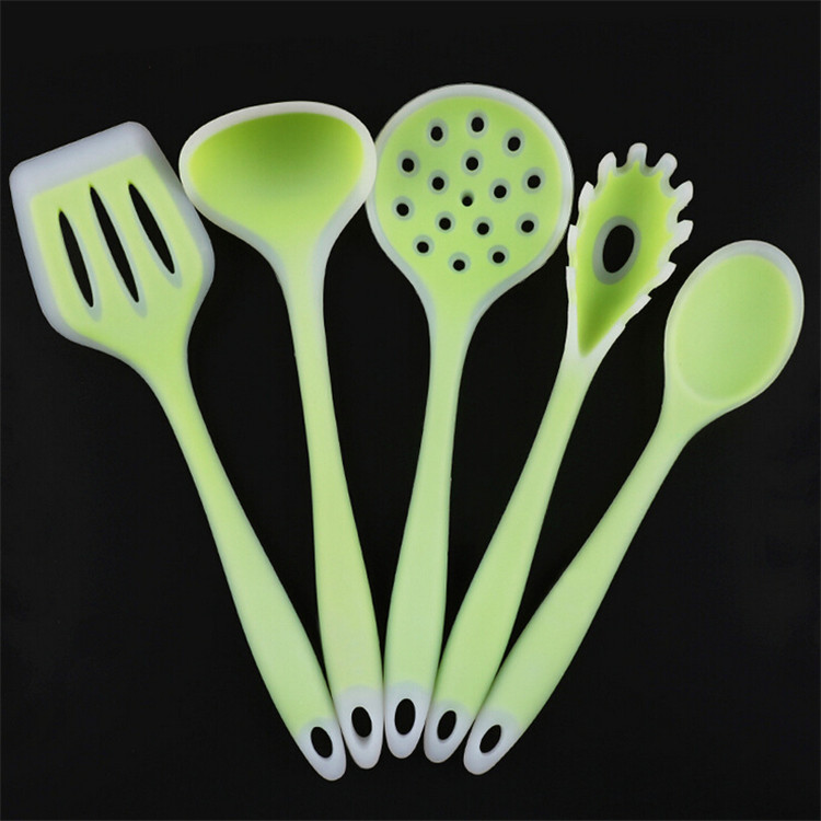 5 Pcs/Set High Quality Kitchen Cooking Utensils Silicone Spatula Set
