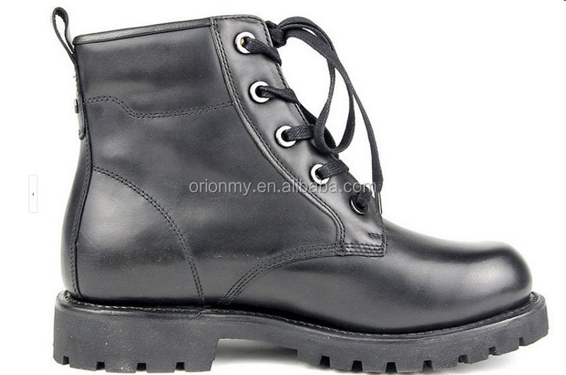 Steel Head Leather Boots Men Winter Shoes Army Safety Boots ...
