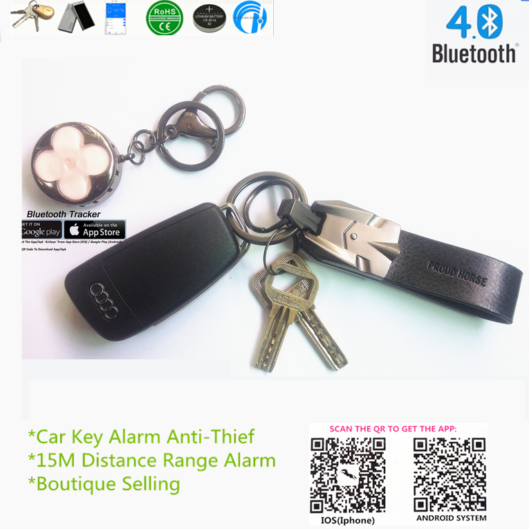 03H3 Car emblem key holder,metal key ring,custom key chain smart tracker bravo