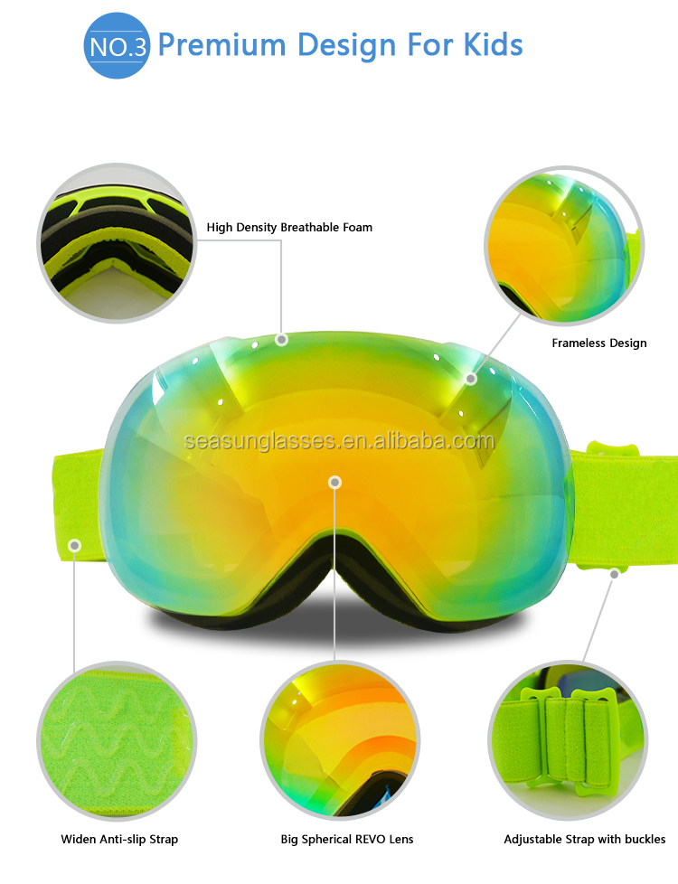 2018 the popular design anti-fog mx goggle