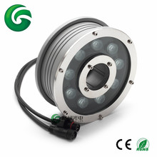 Factory 3R 3G 3B IP68 RGB LED Fountain Lights DMX 9x3w Ring underwater Light with 3 years warranty