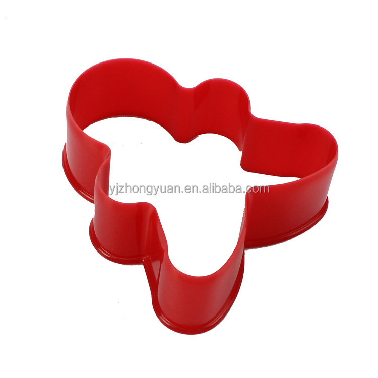 ZY-G1096 Ginger man shape plastic cookie biscuit cutter set