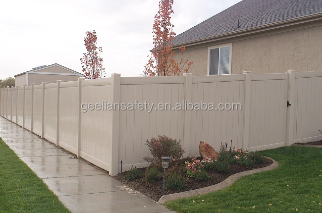 6 ft. x 8 ft. White PVC Vinyl Privacy Fence Panels