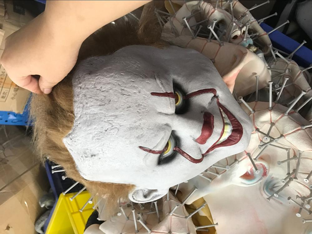 Horror testa Piena Maschera In Lattice di Halloween Sanguinosa Pennywise Maschera Da Clown