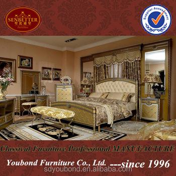 0016 Italian Hotel Furniture Bedroom Set Royal Style