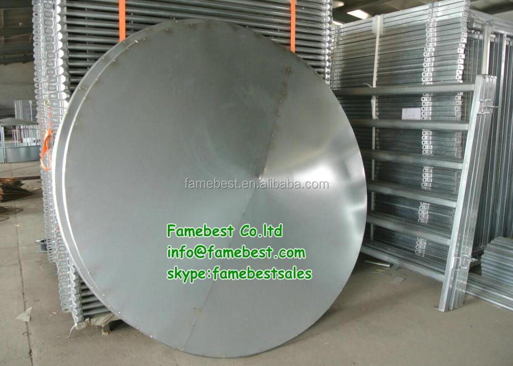 Hay Saver Round Bale Feeder With Roof For Cattle And Horse