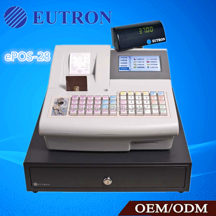 62-key water-proof keyboard 5 inch TFT screen POS system for retail,food service,enterainment places