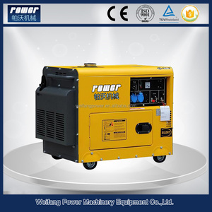 Small electric power diesel generator 5kw genset for home using