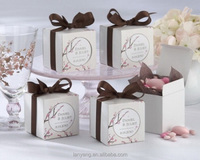 White Floral Wedding Candy Boxes Party Favor Decorations Wholesale