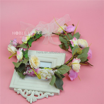 Dry Flower China Fabric Artificial Wholesale Party Garland For Girls