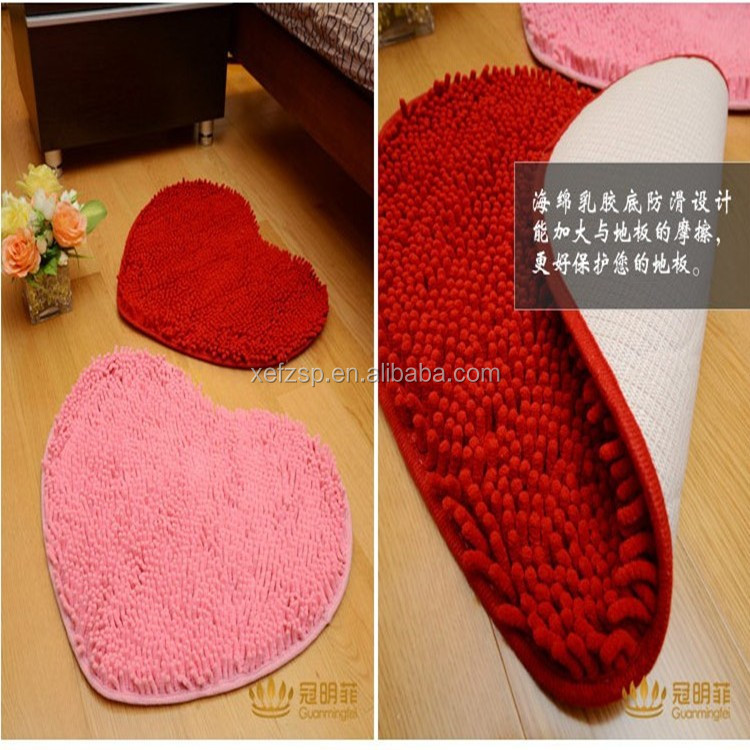 Chinese maker anti-slip polyester rubber floor mat