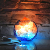 Natural Himalayan crystal salt night light Anion lamp creative dimming Bedroom bedside decoration small night light